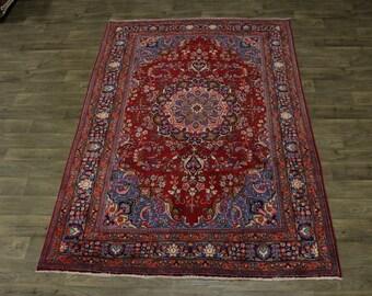 Lovely S Antique Handmade Sabzevar Persian Rug Oriental Area Carpet 6'3X9'5
