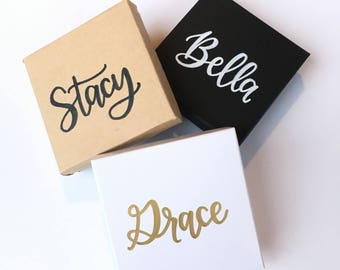 Personalized Gift Box | Christmas Jewelry Box | Bridesmaid Jewelry Box | Bridesmaid Proposal | Custom Gift Box | Bridesmaid Gift Boxes