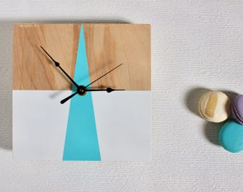 Geometric Wooden Clock