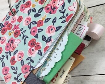 SALE*Mixed Paper Mini Journal, Mini Journal, Mixed Paper Journal, Journal, Smash Book, Art Book, Junk Journal, Mixed Paper Junk Journal j318