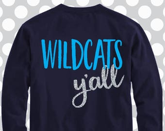 Wildcats yall SVG, yall svg, wildcats svg, paw svg, kentucky svg, cats svg, wildcat, Cut File, cricut file, png, svg, dxf, commercial use