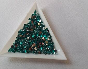 3 mm Resin Flatback Rhinestones | Teal Color | 250 pieces