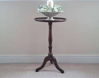 Vintage Round Pedestal Table, Wine Table,Lamp Table, Side Table Etc.