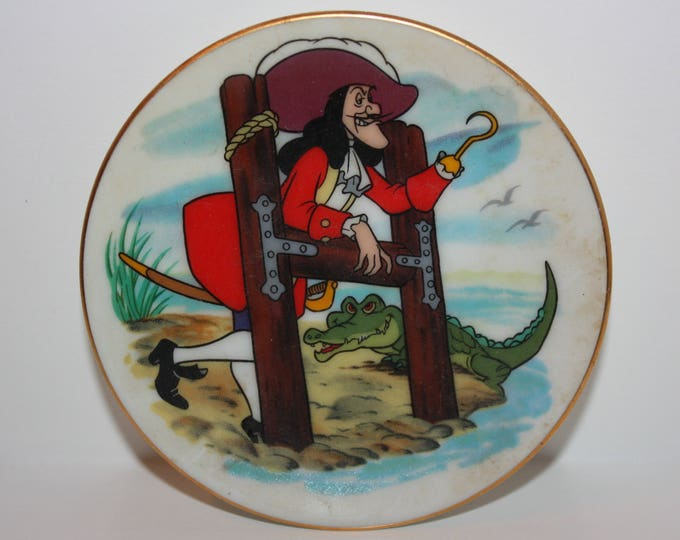 Disney Collection Disney's Alphabet Miniature Plate Letter H Captain Hook 1980's