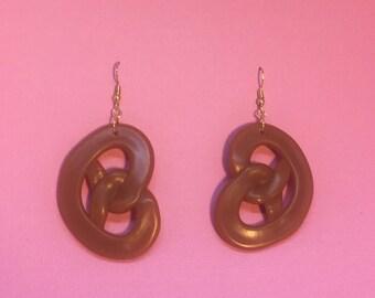 Pretzel Earrings