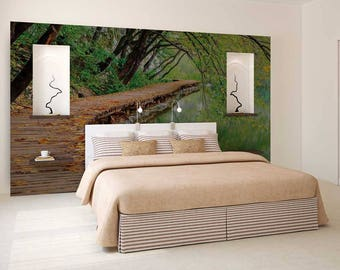Wall Decal Exotic, Wall Mural Woods, Tree Wall Decal, Wall Mural Decal  Forest