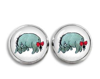 Eeyore Stud Earrings Winnie Pooh 12 mm Stud Earrings Classic Winnie the Pooh Jewelry