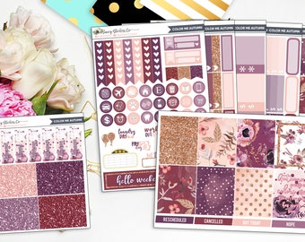 Color Me Autumn Full Weekly Planner Sticker Kit | | for use with Erin Condren Lifeplanner™, Filofax, Personal, A5, Happy Planner