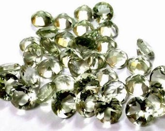 10 piece 7mm Green amethyst faceted round gemstone, 100% natural 7mm amethyst Round faceted loose gemstone, Green Amethyst Faceted Gemstone