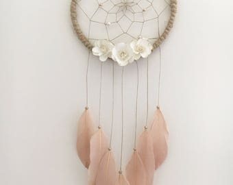 "7"" Floral Dream Catcher"