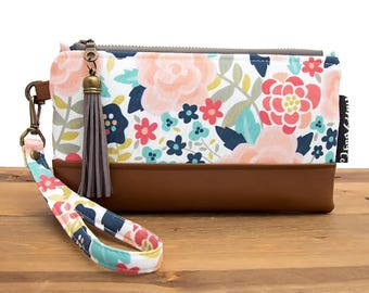 Bridesmaid Clutch - Vegan Leather Bag - iPhone Wristlet Case - iPhone 7 Clutch - iPhone Wallet - Boho Leather Clutch - Wedding Clutch #73