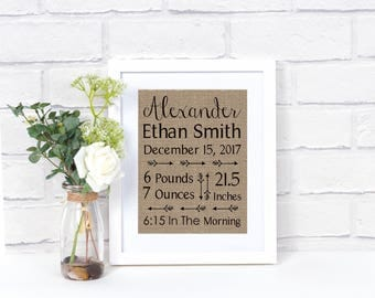 Nursery Decor Name Signs- Baby Name Sign- Nursery Name Sign- Birth Announcement Wall Art- Baby Shower Gift- Boho Nursery Decor- Nursery Sign