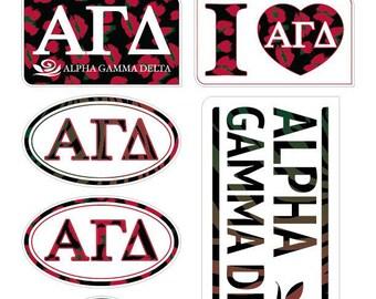 """ALPHA GAMMA DELTA """"Animal"""" Sticker Sheet"""