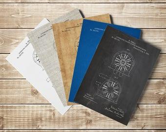 Tesla Motor, Patent Print, Electric Motor, Tesla Patent Print, Engineering Art, Engineer Gift Idea, Tesla, Tesla Invention, INSTANT DOWNLOAD