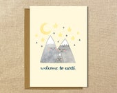 Welcome to Earth | A2 Illustrated Baby Card