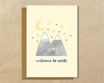 Welcome to Earth | New Baby Card