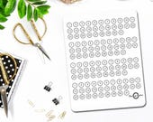 Date Cover Stickers, Number Stickers, Calendar Stickers, Planner Stickers, Bullet Journal Stickers