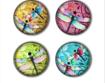 Dragonfly magnets or dragonfly pins, colorful magnets pins, dragonflies, refrigerator magnets, fridge magnets, office magnets (2)