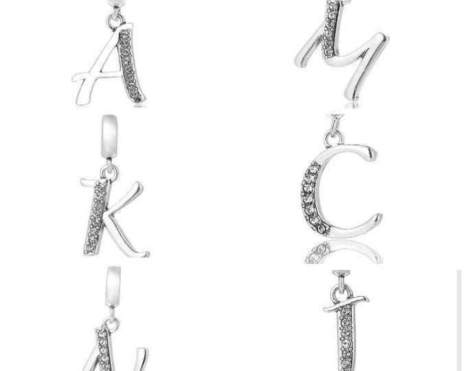 Initial Neclace - Pendant Charms Complete Alphabet- 925 Sterling Silver - Gift packed - Birthday Gift