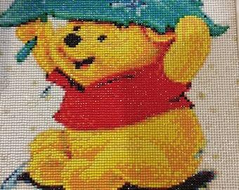 Table creation Winnie the Pooh embroidered diamond rhinestone shiny 5 d
