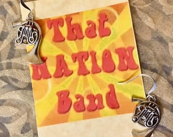 That NATION Band French Horn Earrings