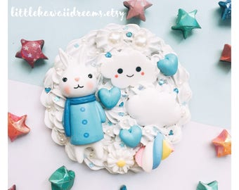 Kawaii decoden small hand pocket mirror cute hand mirror