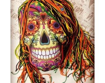 Halloween decor  Pillow Sugar Skull Halloween Home Decor Halloween Pillow