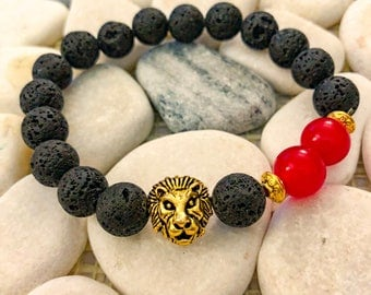 Touch of Red Lion Bracelet