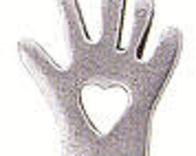 Heart in Hand Danforth pewter shank button