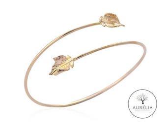 """Gold-plated bracelet """"gold leaf"""""""