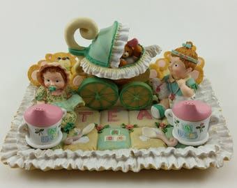 "Miniature ""Baby's 1st Tea"" Figurine Set"