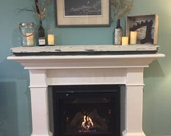 Rustic Hand Painted Mantle