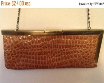 Anniversary Sale NWT Jessica McClintock Brown Clutch