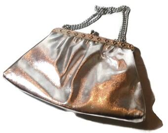 Vintage Silvertone Handbag