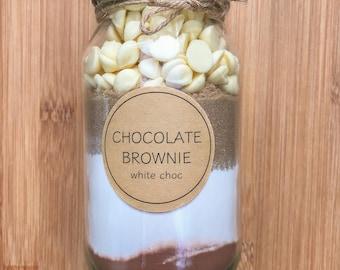 DIY Rich Chocolate Brownie - 500ml Jar, Baking Mix