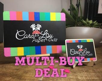 business chalkboards, multi deal, shop chalkboard, sign writing, business board, promotional, business easel, prop board, logo, branding