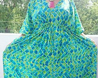 Plus size clothing, Plus size kaftan, Plus size dress, Plus size kaftan dress, Indian batik robe, Bridal Robe, Batik Robe, Bridesmaid Robes