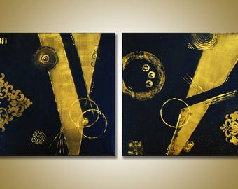 SC-art - abstract & modern / acrylic painting / 40x80cm / 2 pieces