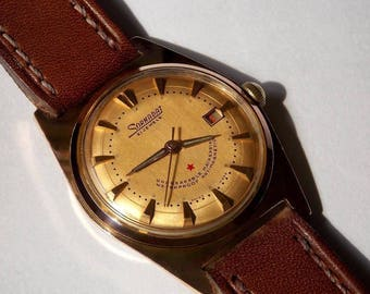 Rare Swiss Sornadat from 1960s,quality movement with 21 jewels