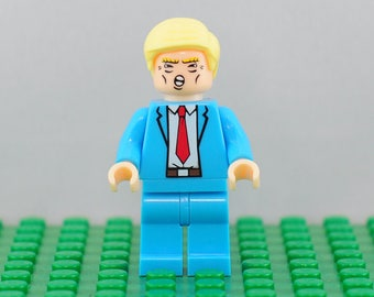 Donald Trump Custom minifigure (Lego Compatible) 45th President of the United States USA MAGA Make America Great Again Apprentice Tower WWE