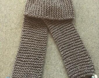 Handmade pom pom scarf