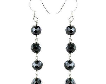 50% Sale Black Diamond Dangler Earrings-Buy 1 and Get other Free In Different Style-Certified, AAA Quality Beads