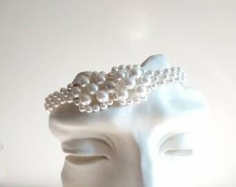 Handmade Repurpose Vintage Pearls With Slip Clasp Bracelet