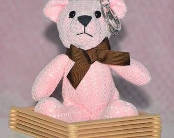 Keychain teddy - Teddy pink (blanket, bear, teddy bear, teddy bear, teddy bear)