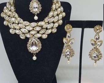 Kundan Bollywood Indian Bridal Necklace Set