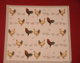 "napkin ""Hens"" animals theme"