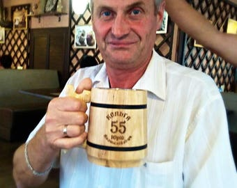 Personalized Beer Mug, Wooden Beer mug, Groomsman gift, Groom Mug, Tankard, Chope à bière bois, Wood Beer Mug, Holz Bierkrug, Tankard