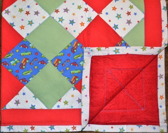 Planes, Trains, and Stars Quilt