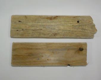 2 Flat Driftwood 11.4-13.4''/29-34cm Small Flat Driftwood - Craft Wood - Natural Driftwood signs #39B