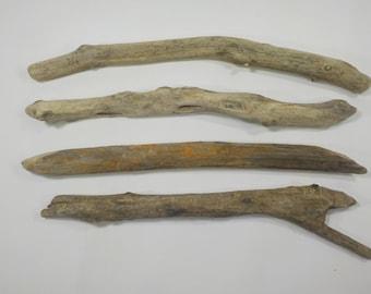 4 Sturdy Driftwood Sticks 13.4-14.4''/34-36cm,Aged Driftwood Branches,Macrame Sticks,Art Supplies, Decorative Driftwood #59S